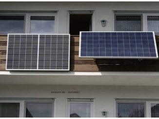Solaranlage auf dem Balkon